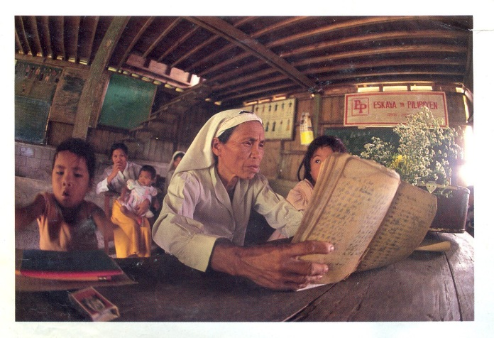 Photograph by Cherry Policarpio 1991. In the foreground is Raymonda Acerda, the child on the left is Jessame Maquiling.
